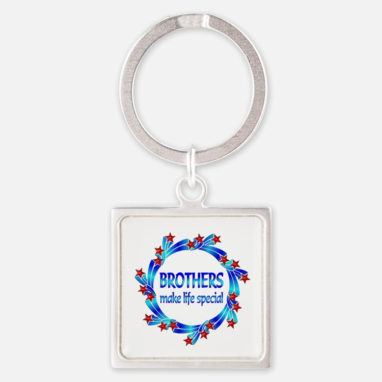 Brothers are Special Square Keychain