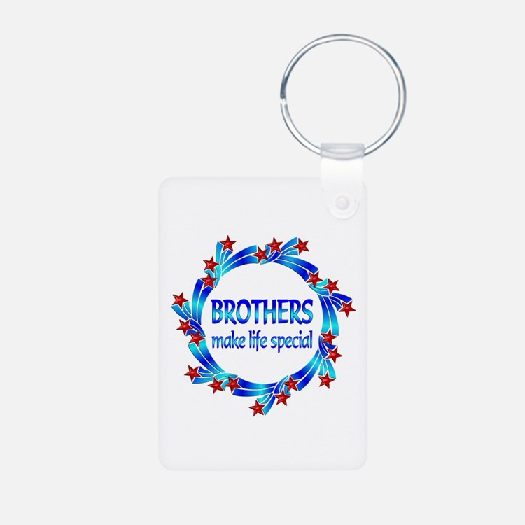 Brothers are Special Aluminum Photo Keychain