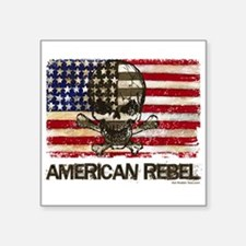 Flag-painted-American Rebel-3 Sticker