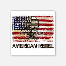 Flag-painted-American Rebel-3 Sticker