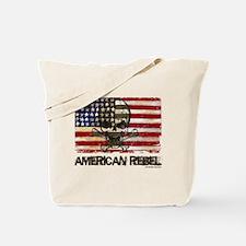 Flag-painted-American Rebel-3 Tote Bag
