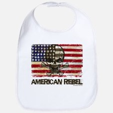 Flag-painted-American Rebel-3 Bib