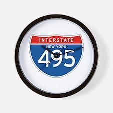 Interstate 495 - NY Wall Clock