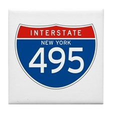 Interstate 495 - NY Tile Coaster