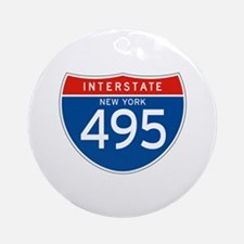 Interstate 495 - NY Ornament (Round)