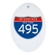 Interstate 495 - NY Oval Ornament