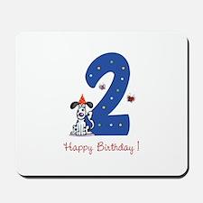 Second Birthday Dog Mousepad