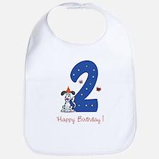 Second Birthday Dog Bib