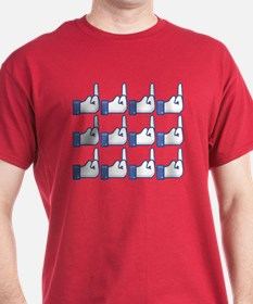 Offensive Facebook Button Shirt T-Shirt