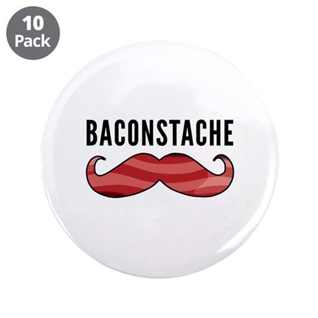 "Baconstache 3.5"" Button (10 pack)"