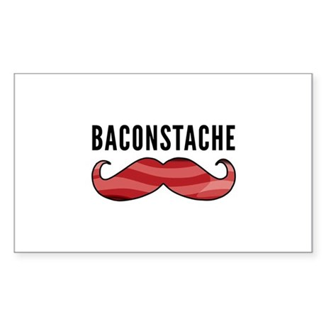 Baconstache Sticker (Rectangle)