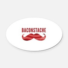 Baconstache Oval Car Magnet