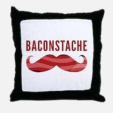 Baconstache Throw Pillow