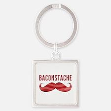 Baconstache Square Keychain
