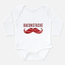 Baconstache Long Sleeve Infant Bodysuit