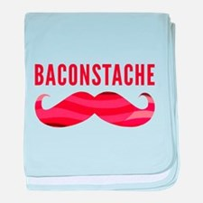 Baconstache baby blanket