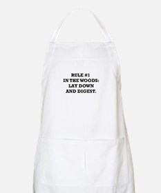 Rule #1 in the Woods: Lay Down and Digest Apron