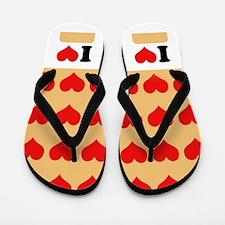 I heart twinkies Flip Flops
