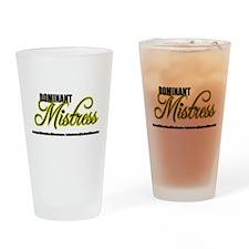 Dominant Mistress Title Drinking Glass