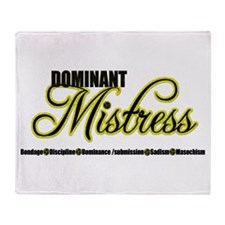 Dominant Mistress Title Throw Blanket