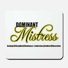 Dominant Mistress Title Mousepad