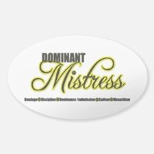 Dominant Mistress Title Decal