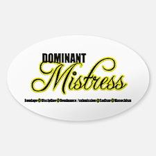 Dominant Mistress Title Sticker (Oval)