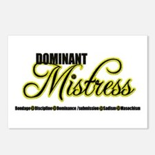 Dominant Mistress Title Postcards (Package of 8)