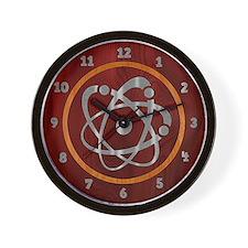 Chromium Atom Wall Clock