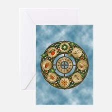 Celtic Wheel of the Year Greeting Card