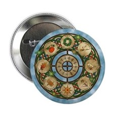 """Celtic Wheel of the Year 2.25"""" Button"""