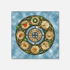 "Celtic Wheel of the Year Square Sticker 3"" x 3"""