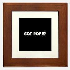 Got Pope? Framed Tile