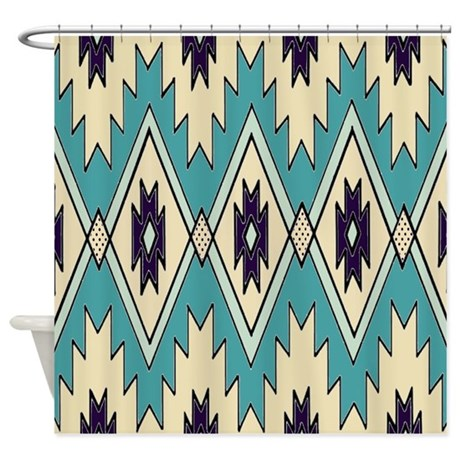 Native Chieftain Pattern Shower Curtain By Walela