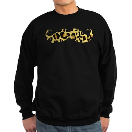 Leopard Stache Sweatshirt (dark)