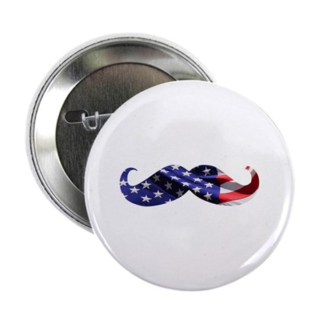 "USA Stache 2.25"" Button"