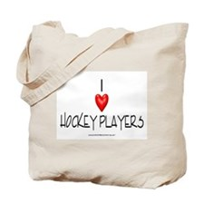 Heart Hockey Players Tote Bag