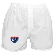 Interstate 495 - MA Boxer Shorts