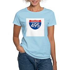 Interstate 495 - MA Women's Pink T-Shirt