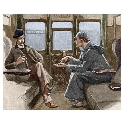 Sherlock Holmes and Dr. Watson Canvas Art