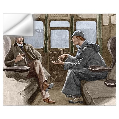 Sherlock Holmes and Dr. Watson Wall Decal