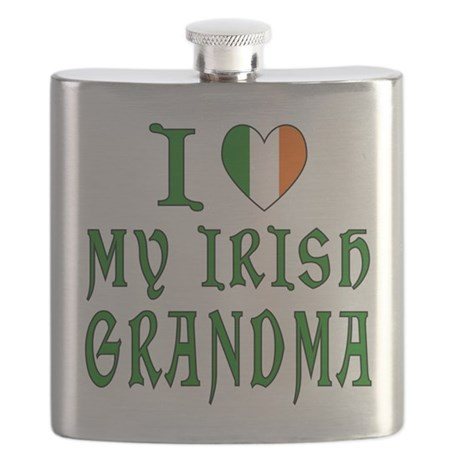 I Love My Irish Grandma Flask