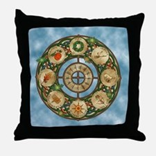 Celtic Wheel of the Year Throw Pillow