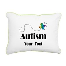 Personalized Autism Butterfly Rectangular Canvas P