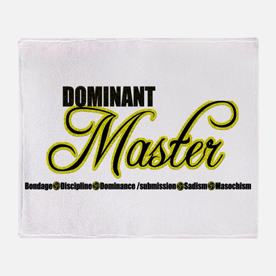 Dominant Master Throw Blanket