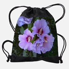 Cool Rose of sharon Drawstring Bag