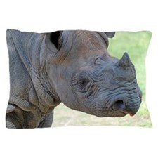Black Rhino Pillow Case