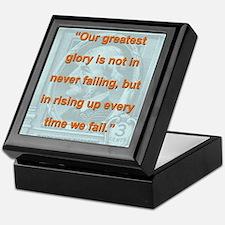 Our Greatest Glory - RW Emerson Keepsake Box