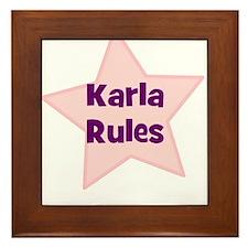 Karla Rules Framed Tile
