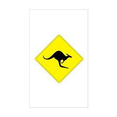 Kangaroo Crossing Rectangle Decal